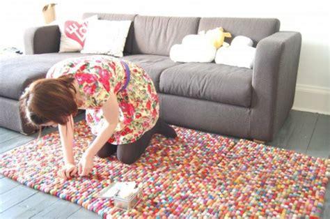 teppich reinigen selber machen diy teppiche und fu 223 matten bunt wohnen