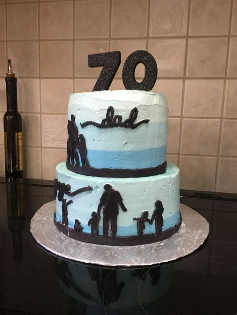 birthday cake silhouette cake fathers day cake idea  creations