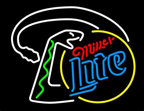 miller light neon sign miller lite snake neon sign neon