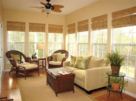 Decorating Ideas For Sunrooms Classic Bamboo Shades Window Treatments Ideas