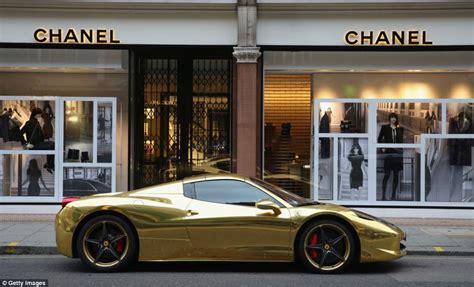 expensive cars gold gold ferrari heads fleet of super sports cars taking over