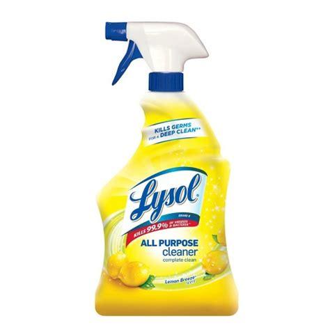 lysol lemon breeze scented  purpose cleaner disinfectant spray oz target