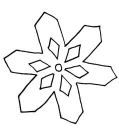 gallery for gt simple snowflake coloring page