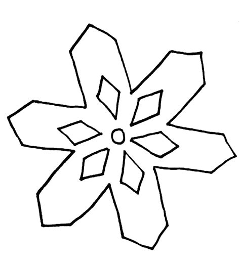 snowflake templates easy snowflake coloring pages for coloring home