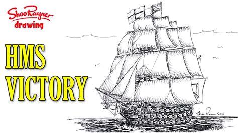 war boat drawing how to draw a man of war sailing ship youtube