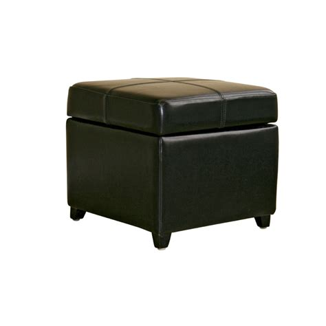 Black Leather Ottoman With Storage Wholesale Interiors Bicast Leather Storage Ottoman Black 0380 J023 Black
