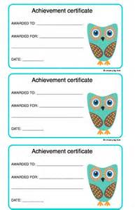 achievement certificates for kids create play love