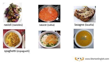 vocabulario ingles cocina vocabulario ingl 233 s alimentos comidas foods meals