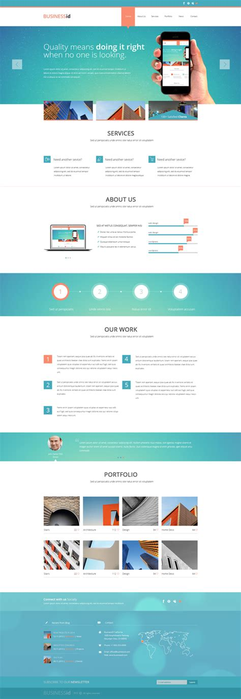 blog layout template psd one page psd templates html5 css3 design blog
