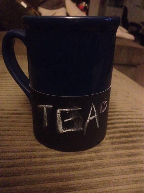 diy chalkboard coffee mug musely