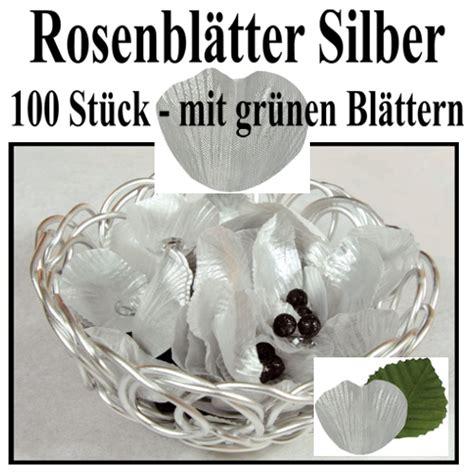 Hochzeitsdeko Artikel by Ballonsupermarkt Onlineshop De Rosenbl 228 Tter Silber Mit
