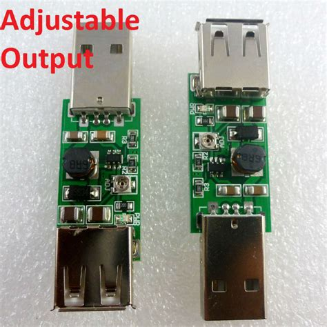 Lu Kabel Usb Led 7w 5v 2x 7w usb 5v to 9v 12v 15v adjustable dc dc converter step up boost module for led moter