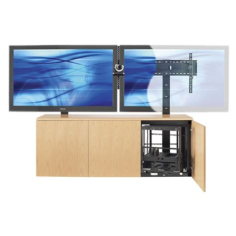 conference room credenza avteq conference room credenza for single 103 in or dual 80 in screens various laminate