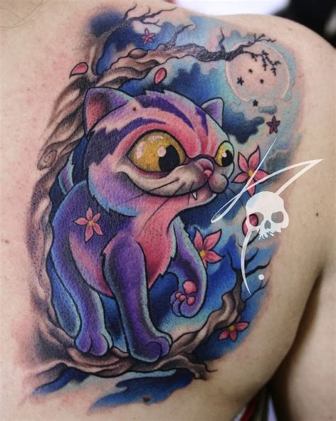 Tattoos Designs Collection Gallery New School Tattoo Art School Cat Tattoos