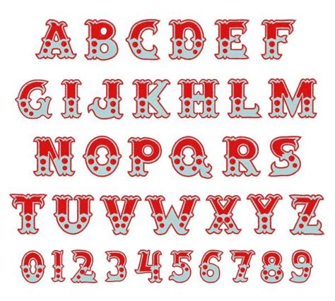 typography embroidery 17 beste idee 235 n circus font op grafisch