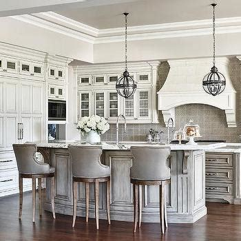 kitchen island with breakfast bar and stools curved breakfast bar transitional kitchen rehk