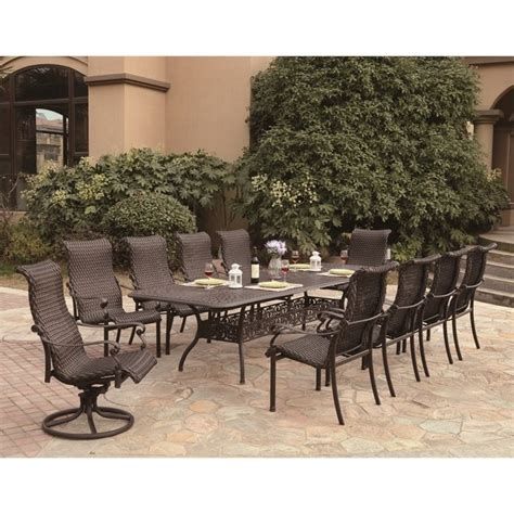 11 Patio Set by Darlee 11 Wicker Patio Dining Set In