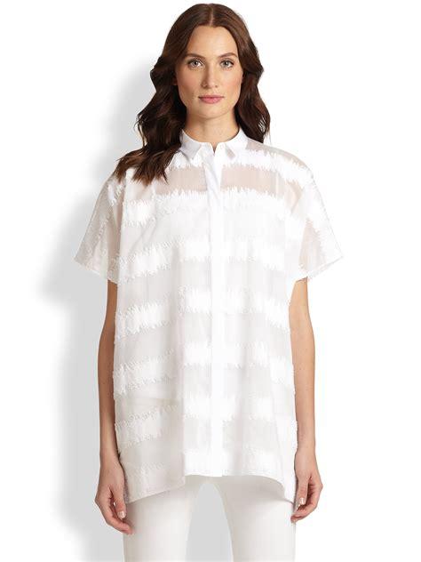 salma blouse lafayette 148 new york salma blouse in white lyst