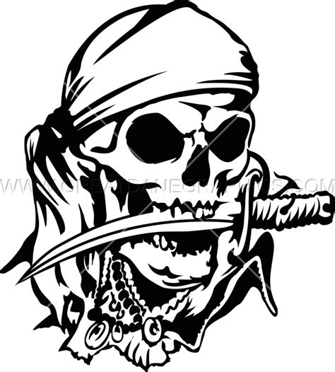 pirate skull amp knife production ready artwork for t
