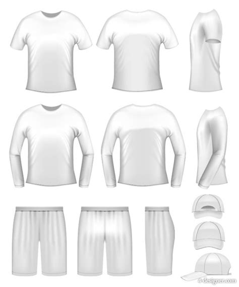 4 designer 3d clothing template 01 vector material