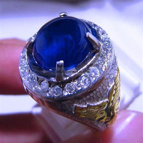 Permata King Safir Blue Safir batu cincin safir terpilih net