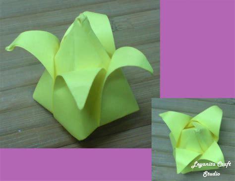 tutorial origami tulip tutorial origami bunga tulip leyanita craft studio