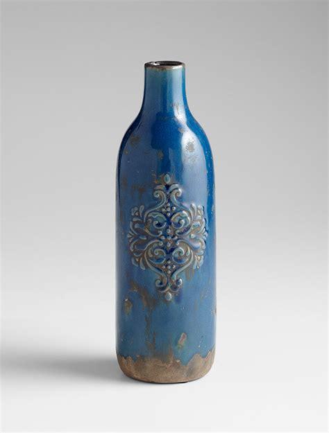 Blue Decorative Vases by Large Blue Terra Cotta Vase By Cyan Design