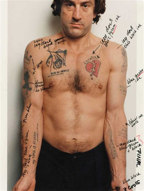 martin scorsese s notes on robert de niro s tattoos in