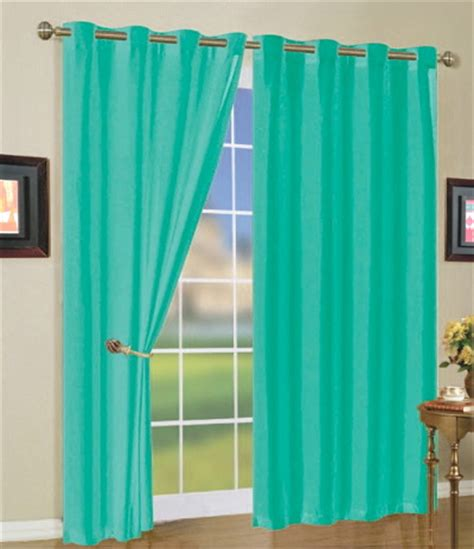 bright teal curtains faux silk mira curtain panels