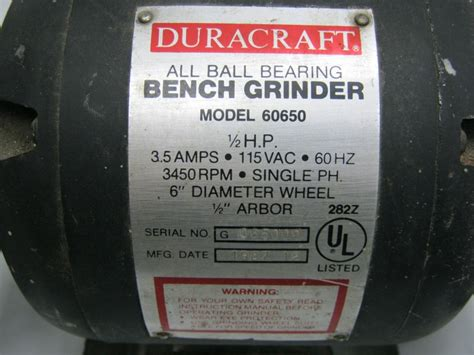 duracraft bench grinder duracraft bench grinder parts benches