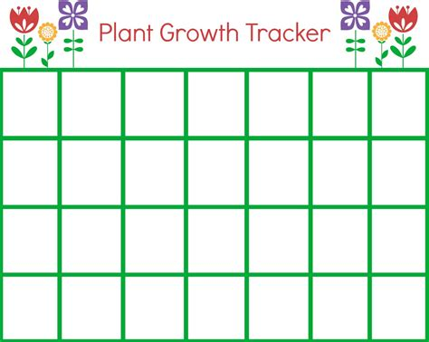 printable children s growth chart diy garden crafts perfect for summer mommy moment