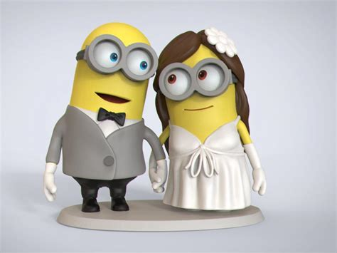 imagenes minion boda handmade minions wedding cake topper real image of barrow