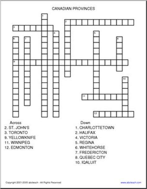 easy crossword puzzles canada crossword canadian provinces abcteach