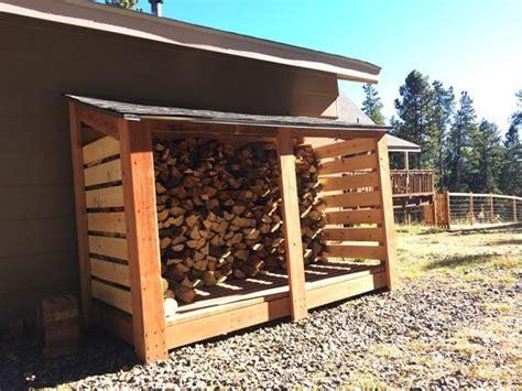 diy simple firewood storage shed myoutdoorplans