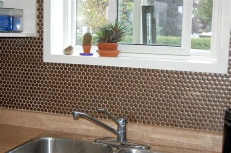 penny tile kitchen backsplash mosaic tile kitchen photos