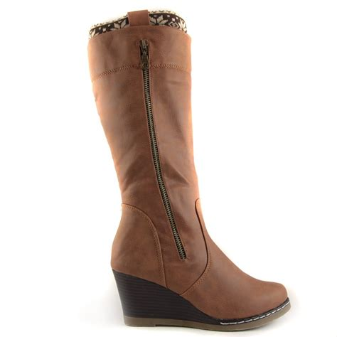 buy freyma after hours brown wedge heel mid calf boot