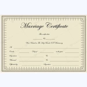 Marriage Certificate Templates 500 Printable Designs California Marriage Certificate Template