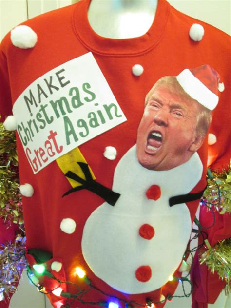 Donald Trump Xmas Sweater | large ugly christmas sweater party donald trump make christmas