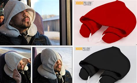 Travel Pillow Hoodie by The Travel Hoodie Pillow Is A Hoodie And Travel Pillow Combo