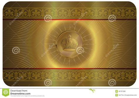 gold buisness card template gold business card stock illustration illustration of