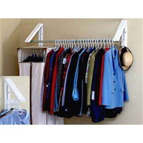 quikcloset clothes storage solution in closet rods and 17 best images about garage storage clothes rod on