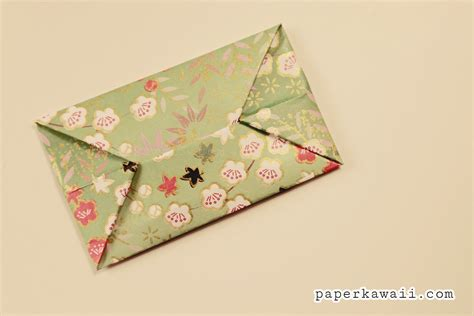 Envelop Origami - easy origami envelope tutorial paper kawaii