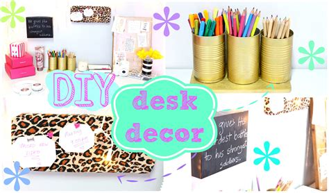 Diy Desk Decor Ideas Diy Desk Decor Easy Inexpensive