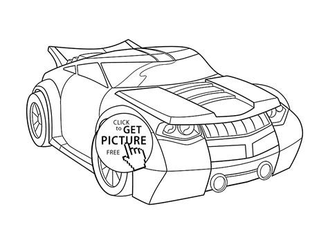 bumblebee car coloring page bumblebee car coloring pages for kids printable free