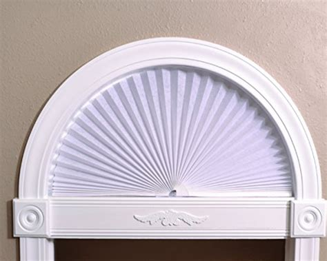 light blocking arch window shade arch light filtering paper shade white 72 quot x 36