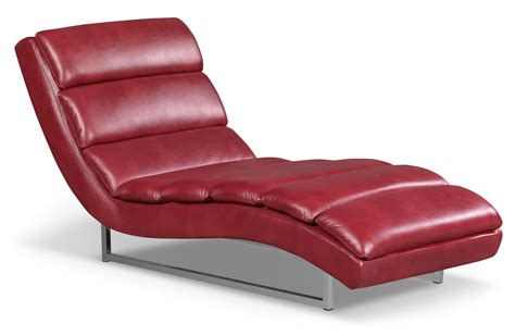 chaise lounge the brick maddy leather look fabric chaise red the brick