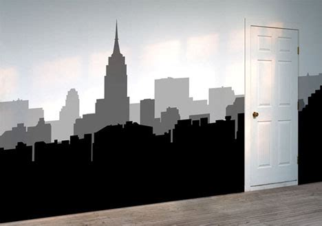 wall stickers city diy decor removable decorative vinyl wall stickers