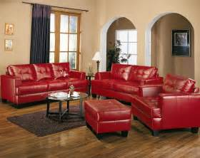 1907 00 samuel red leather 3 pcs living room set sofa