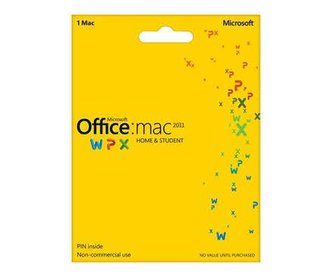 Microsoft Office For Mac 2011 by Microsoft Office For Mac 2011 Home Student 1 Mac