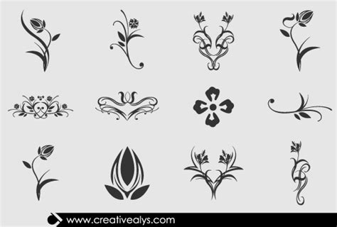 beautiful design beautiful floral design elements creative alys